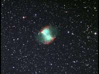 M 27 Dumbell Nebula - First Color CCD Image - 2003