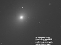 M 31 andromeda Galaxy - first CCD Image - Sept 2003