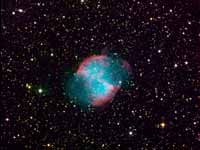 M 27 Dumbbell Nebula - Color